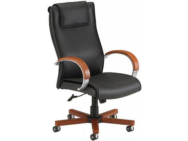executive leather wood hi back office chair ofm 560 leather office chairs. Black Bedroom Furniture Sets. Home Design Ideas