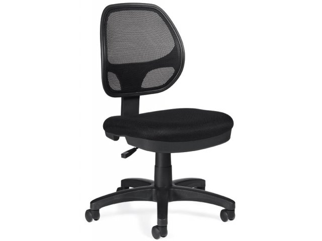mesh back armless task chair otg 1647a mesh office chairs. Black Bedroom Furniture Sets. Home Design Ideas