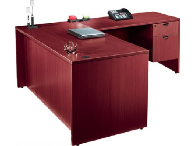 Laminate L Shaped Office Desk With 1 Pedestal 60x30