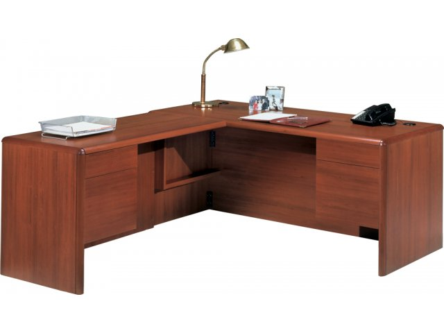shape executive office desk l return tray pfro 2263l office