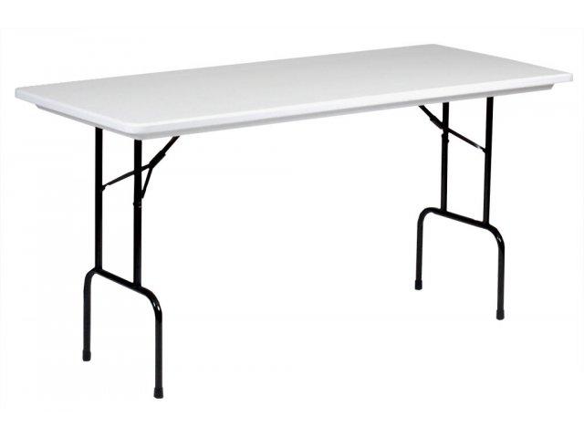 Plastic resin rectangular counter height folding table 72 for Counter height folding table