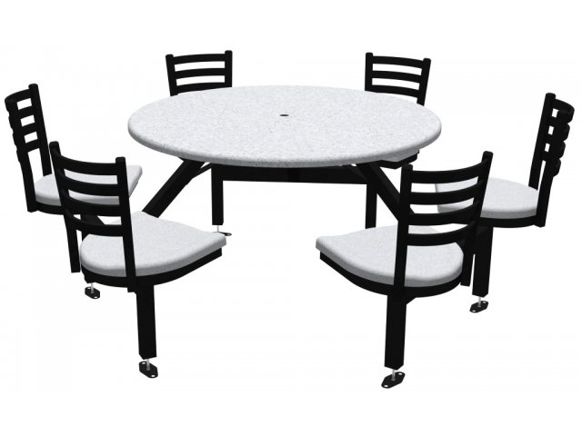 Admirable Round Outdoor Table With Cluster Seating 6 Chairs Anchors Bralicious Painted Fabric Chair Ideas Braliciousco