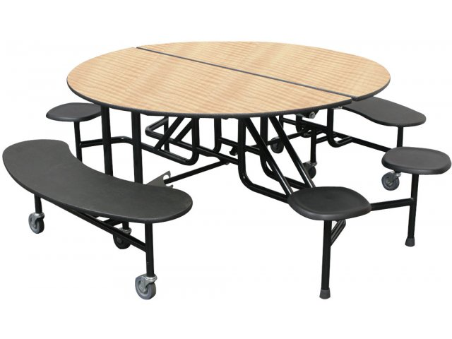 Round Cafeteria Table Benches And Stools