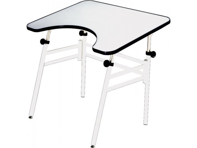 Adjustable Wheelchair Accessible Drafting Table   Folding