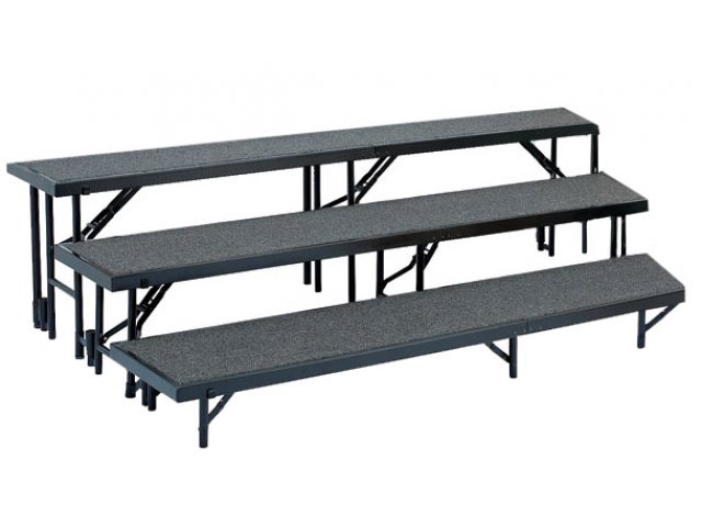 Standing Choir Riser Set Tapered Carpeted 3 Level 18 Quot D