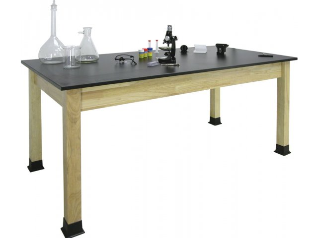 Science Lab Table with Epoxy Resin Top 48x24x30