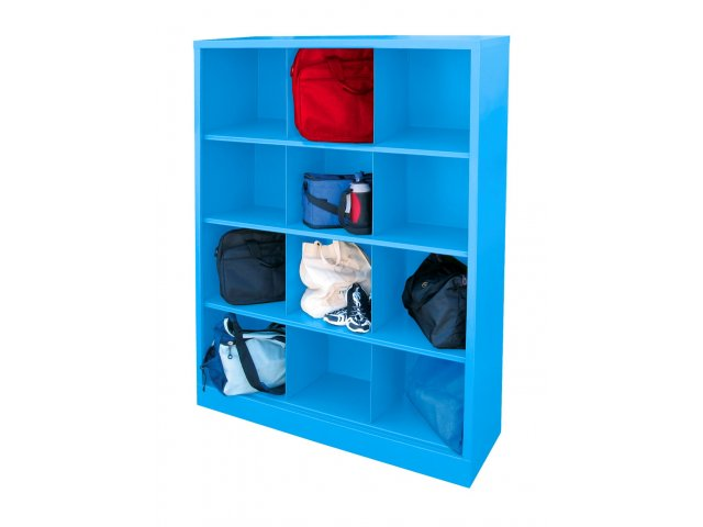 Steel Cubby Storage Unit   12 Cubby