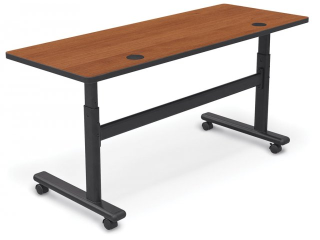 AdjustableHeight SitStand Flipper Training Table X Flip Top - Adjustable height training table