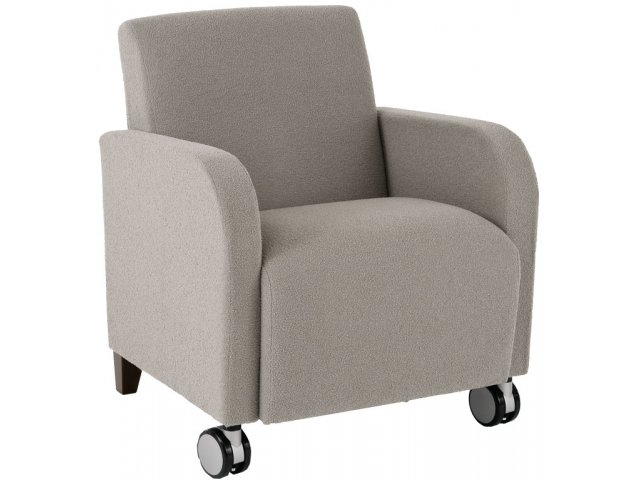 Siena Club Chair With Casters Sie 1401c Soft Seating