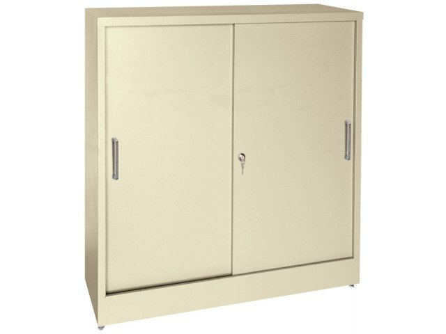 Counter-Height Sliding Storage Cabinet 36