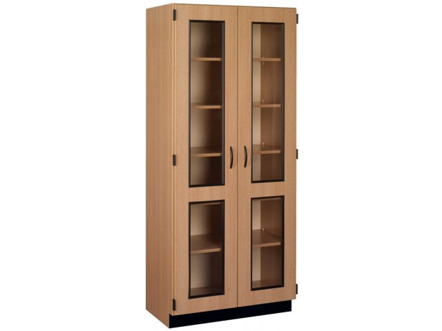 Genial Lab Display And Storage Cabinet With Base Molding