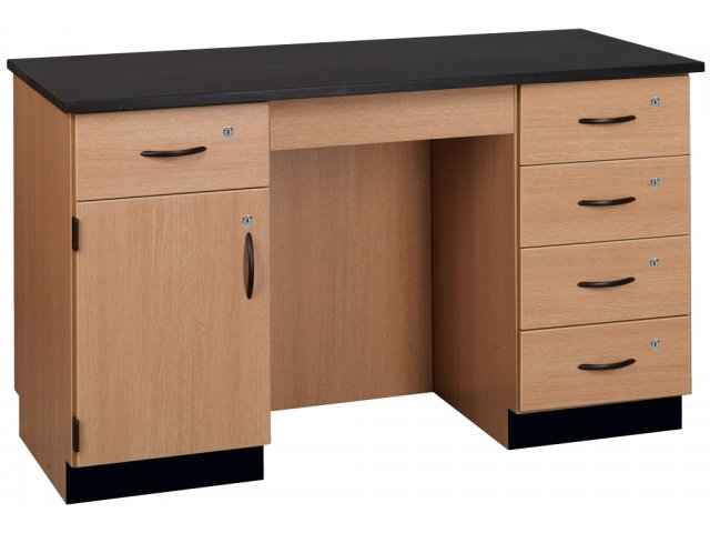 Compact Island Lab Desk Epoxy Top Science Lab Workstations