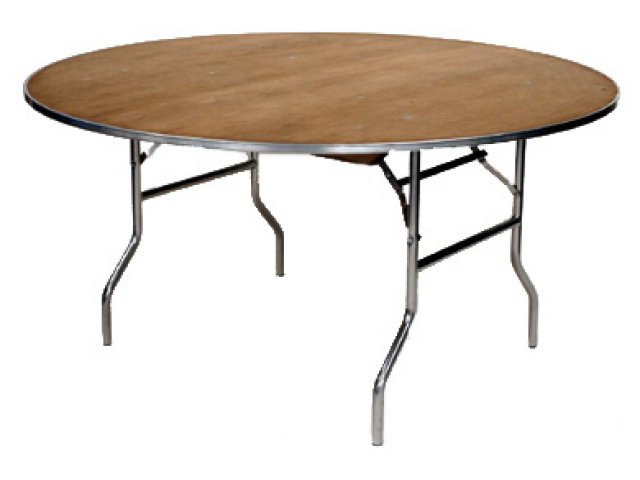 M Series Plywood Round Folding Table