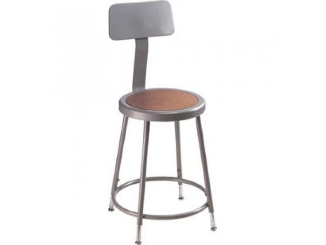 Remarkable Nps Adjustable Metal Lab Stool With Backrest 19 27H Squirreltailoven Fun Painted Chair Ideas Images Squirreltailovenorg
