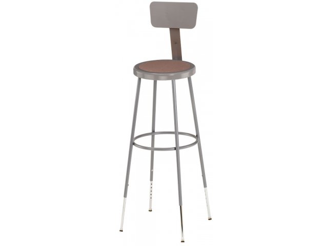 Nps Adjustable Metal Lab Stool With Backrest 31 39 Quot H Stools
