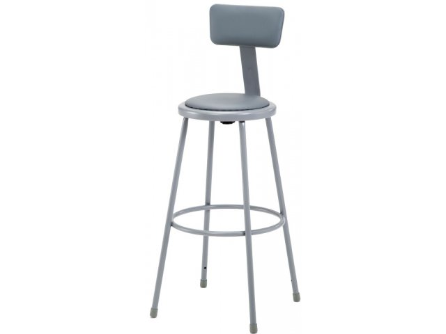 Nps Padded Metal Lab Stool With Backrest 30 Quot H Stools