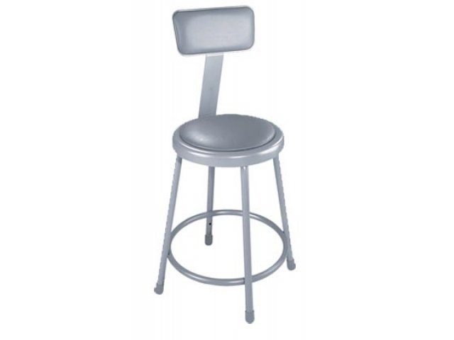 Nps Padded Metal Lab Stool With Backrest 18 Quot H Stools