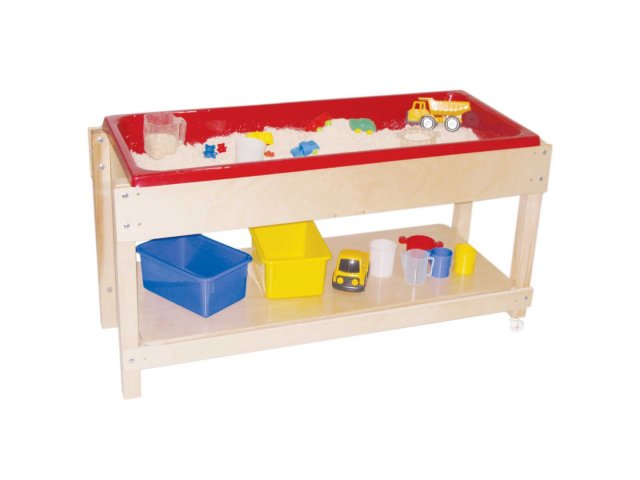 Large Wooden Sand And Water Table With LidShelf 46x17