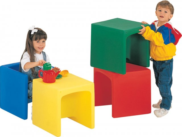 Preschool Cube Chairs Set Of 4 Cfc 007 Preschool Chairs