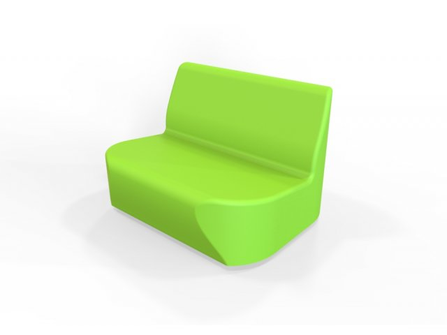 DuraFlex Oasis Mini Soft Seating Sofa, Casters