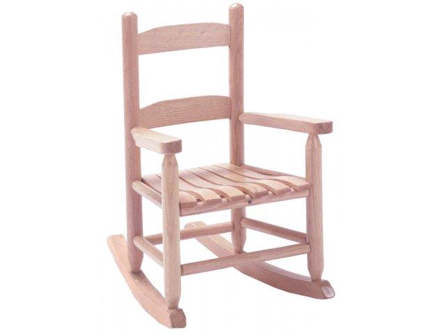 Child Rocker Unfinished TRR-052U, Rocker & Glider Chairs