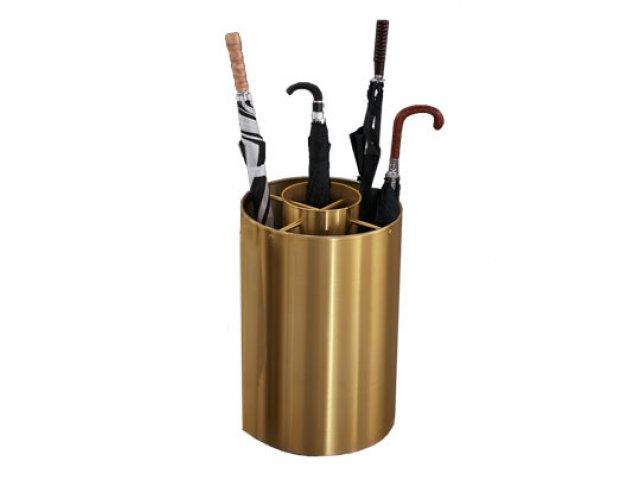 Full Mini Satin Brass Umbrella Stand Umb 259be Umbrella