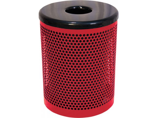 32gallon trash can perforated
