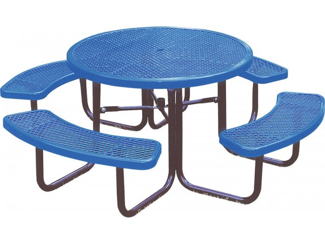 Merveilleux 46 Inch Round Picnic Table Diamond Cut Surface