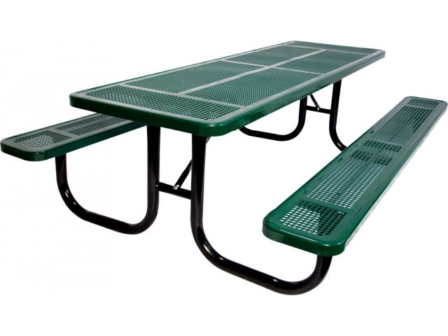 6 Extra Heavy Duty Perforated Picnic Table Upt 7230