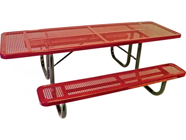 Wheelchair Accessible Perforated Picnic Table UPTH - Wheelchair picnic table