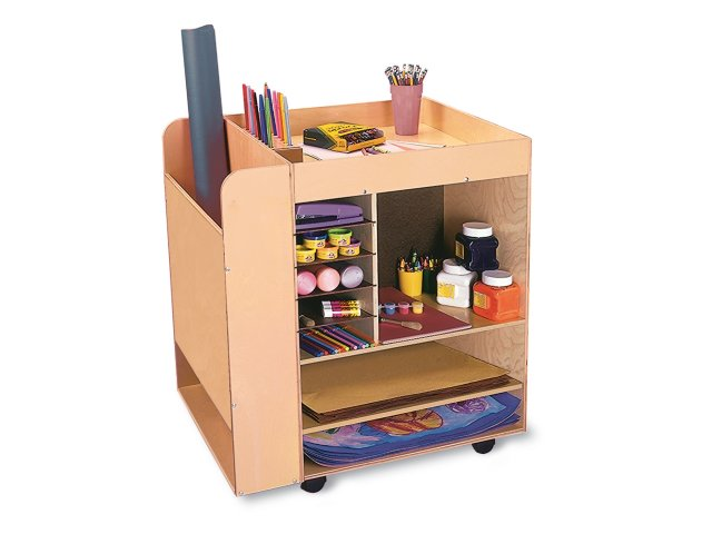 Art Supply Cart  sc 1 st  Hertz Furniture & Art Supply Cart WBR-0285 Art Supply Storage