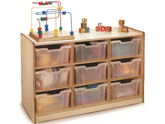 Classroom Cubby Storage W 9 Clear Cubby Bins Wbr 0909t