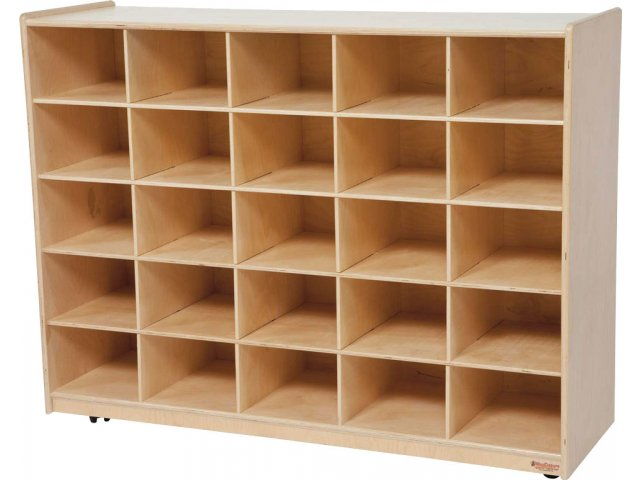 Mobile Cubby Storage Unit 25 Cubbies WDE 16089D Preschool