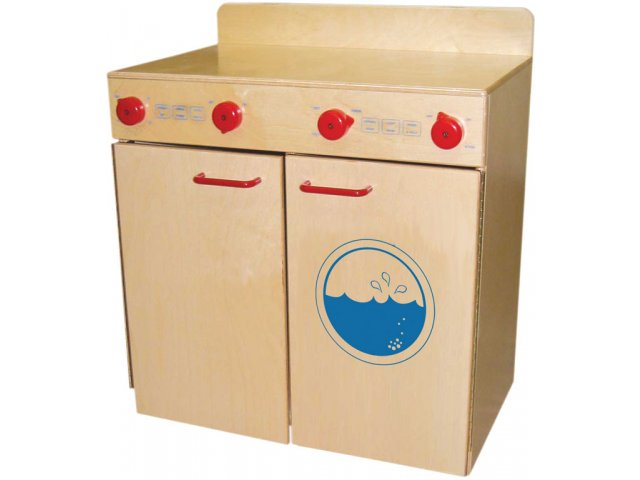 wd wooden play washer and dryer set with tip not doors wde On wooden washer and dryer