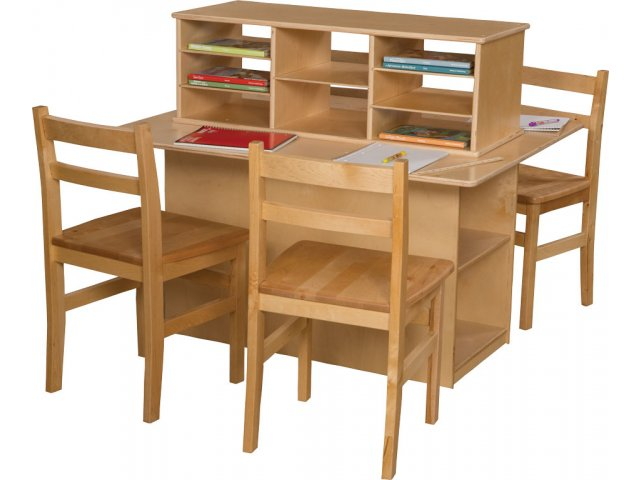 wood designs preschool writing center double sided wde 31120
