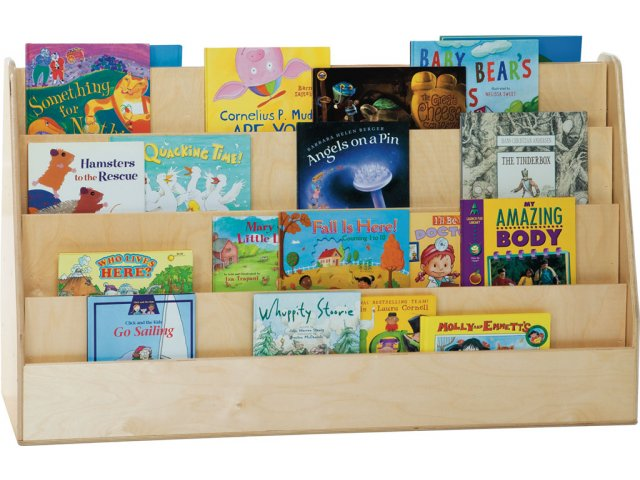 Extra Wide Book Display Stands 4040W Library Displays Interesting Wooden Book Display Stand