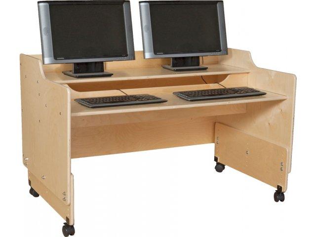 "Mobile Classroom Computer Desk 48""W, Children's Computer"