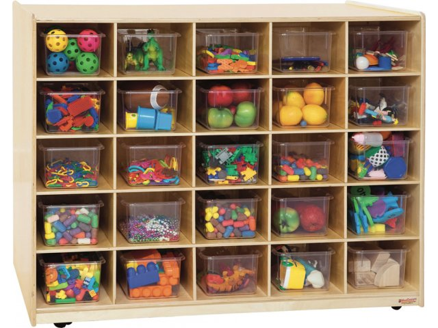double-sided cubby storage