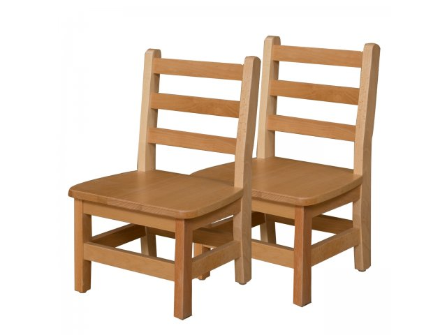 Ladder Back Wooden Preschool Chair Set Of 2 10 H Seat Preschool Chairs