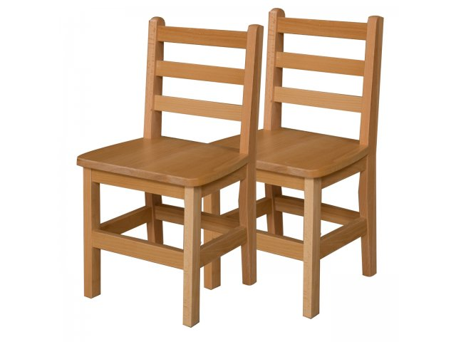 Ladder Back Wooden School Chair Set Of 2 14 Quot H Seat