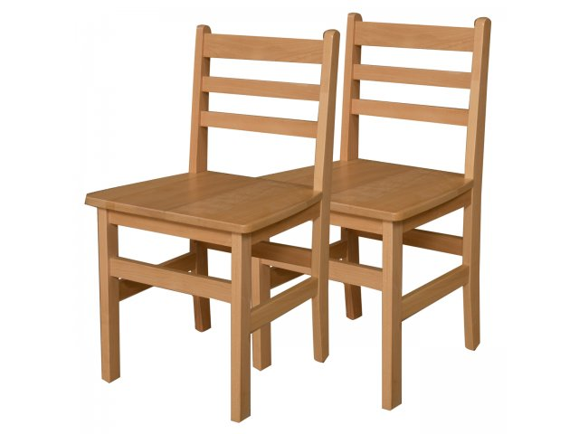 Wooden School Chair ~ Ladder back wooden school chair set of quot h seat