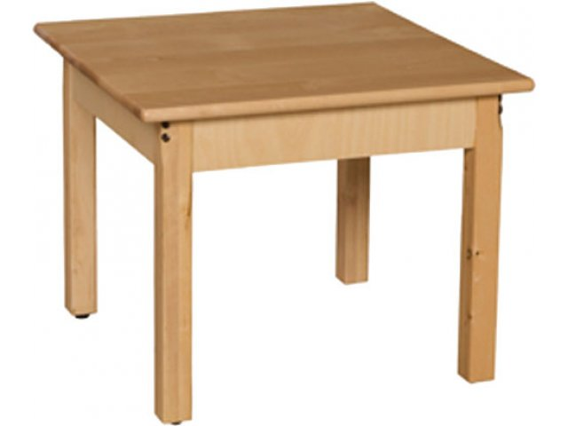 24 Square Hardwood Table 19 H Preschool Tables