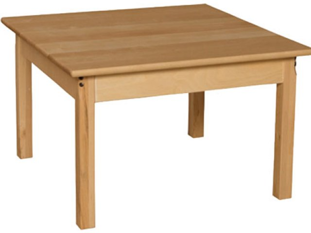 30 Square Hardwood Table 19 H Preschool Tables