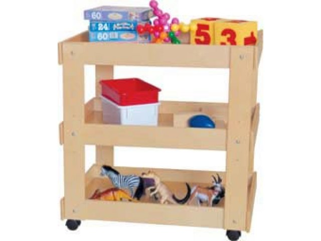 Wooden Classroom Utility Cart Wde 13300 Art Supply Storage