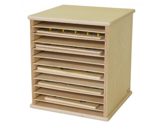 Tabletop Wooden Puzzle Rack WDE 33200 Preschool Storage