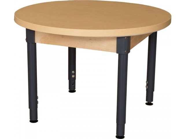 """Table Height 36: Round Adjustable Height Laminate Classroom Table 36"""" Dia"""