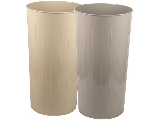 Tall Round Steel Trash Can 80 qt., Indoor Trash Cans