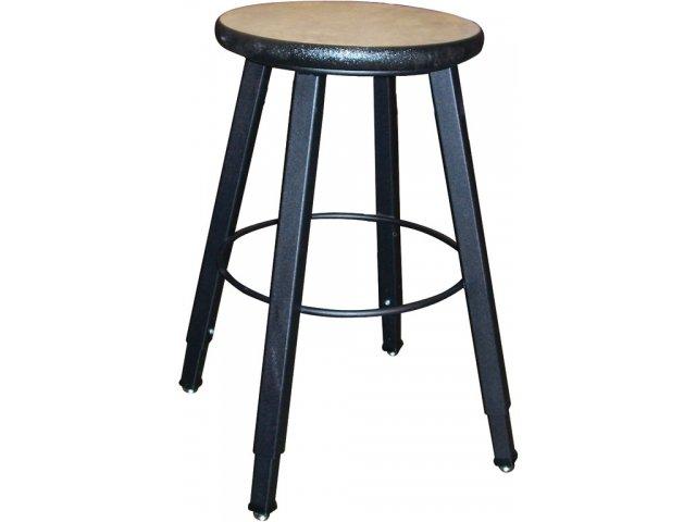 Wb Adjustable Welded Metal Lab Stool Laminate Seat Wls