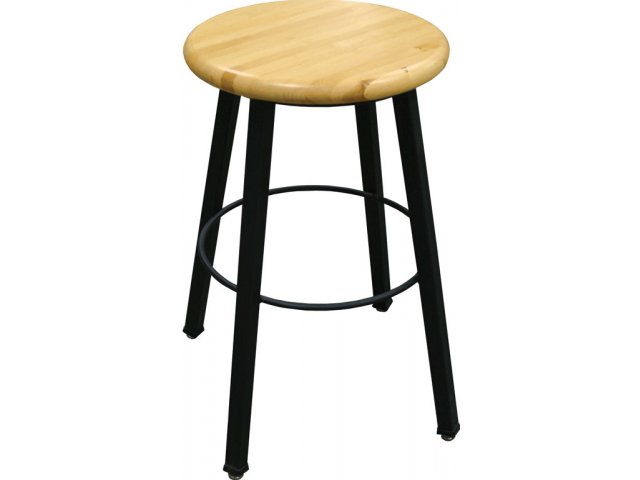 Sensational Wb Welded Metal Lab Stool With Wooden Seat Gmtry Best Dining Table And Chair Ideas Images Gmtryco