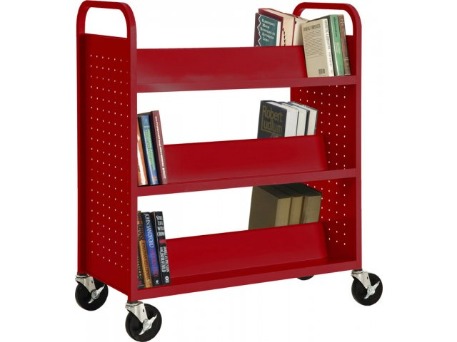 Ideal Double Sided Sloped-Shelf Book Cart WMB-181, Book Carts NG12